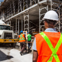 Canva Worker in Construction Site