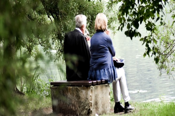 couple by lake