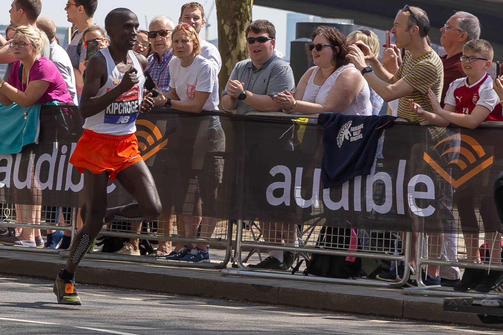 Eliud Kipchoge at the London Marathon 2018. Photo: Marco Verch via Flickr.