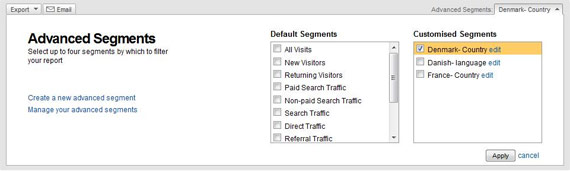 Google Analytics Advanced Segmentation