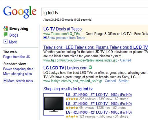 Google Shopping Listings