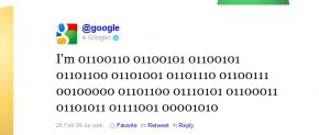 Google first tweet