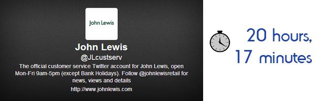 John Lewis Response Time