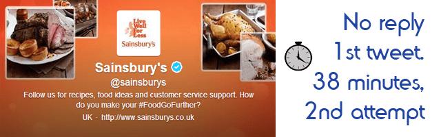 Sainsburys Response Time