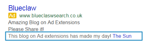 Google Adwords Review Extension