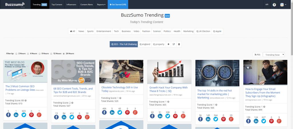 Buzzsumo Trending