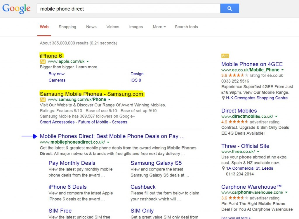 Missing PPC on branded terms