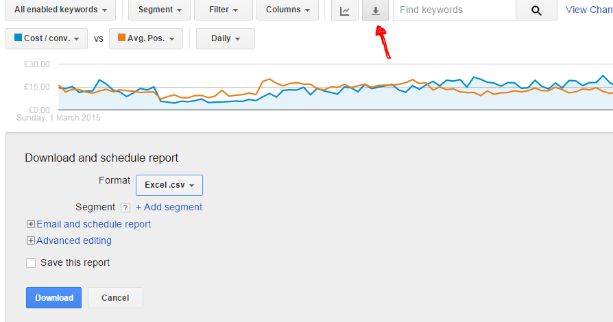 download adwords ad report