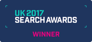 UK Search Awards Winner Logo Blueclaw