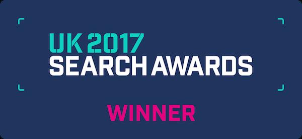 Uk Search Awards Winner Logo Blueclaw