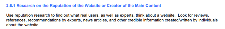 Section 2.6.1 of Google's content quality guidelines