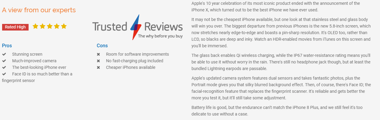 iPhone X trusted review