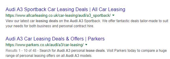 Quick Keyword Classifier Google Audi A3 Lease Deals Results
