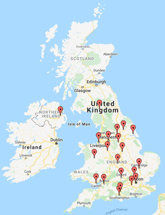 Locations of public involvement matching service partners