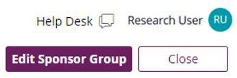 Combined review screenshot - edit sponsor group