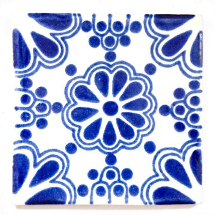 lace blue 5 x 5cm tiles