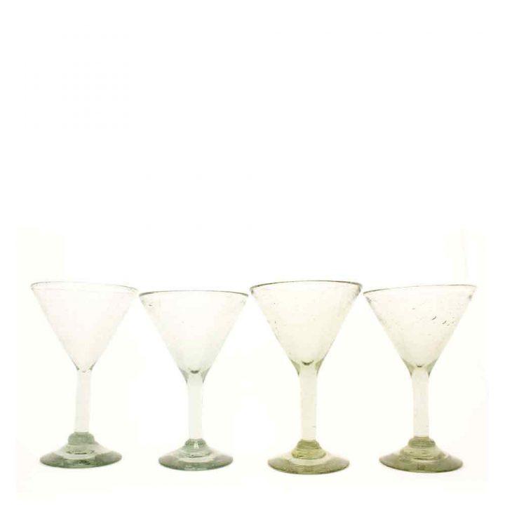 martini glasses hand made in Mexico