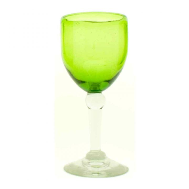 lime green recycled glassware