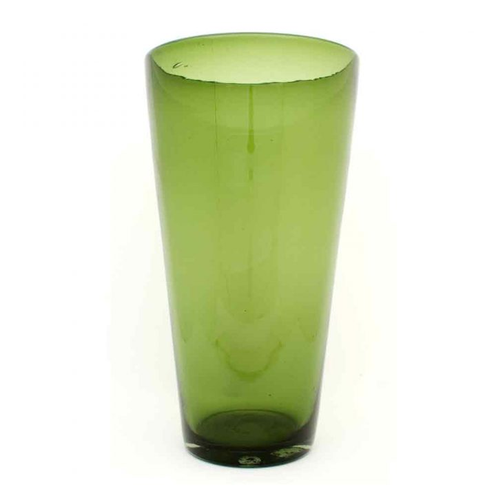 olive flared vase