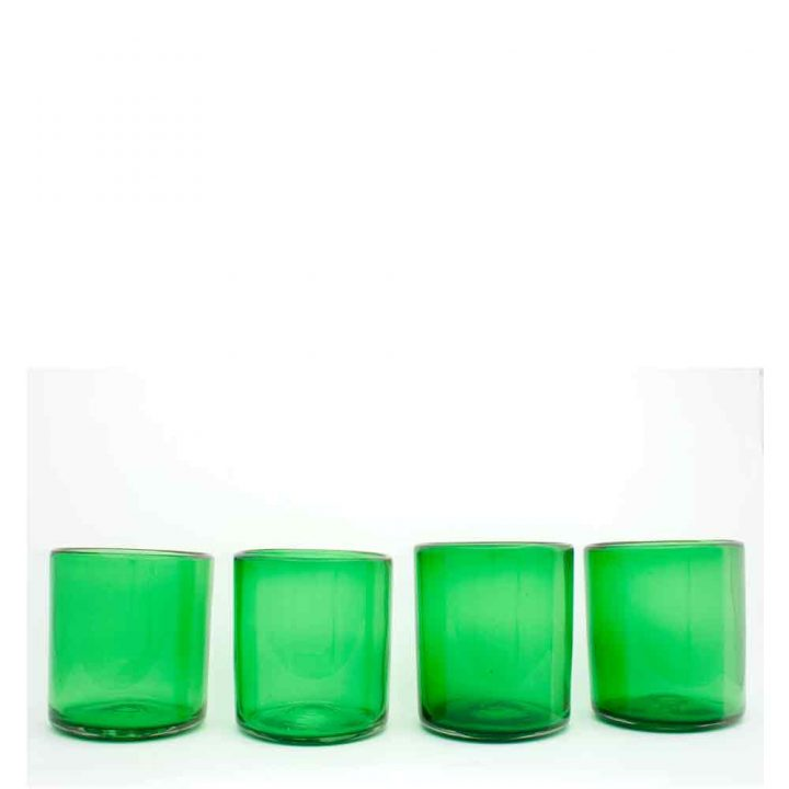 jade roca hand made recycled glass from mexico