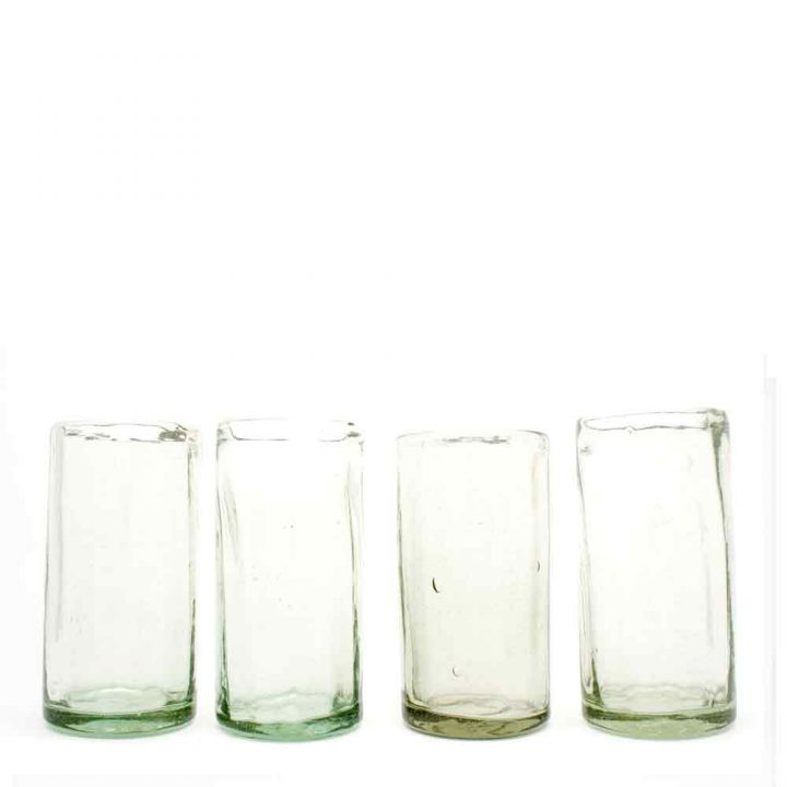 ribbed wahaca highball tumblers hand made from recycled glass