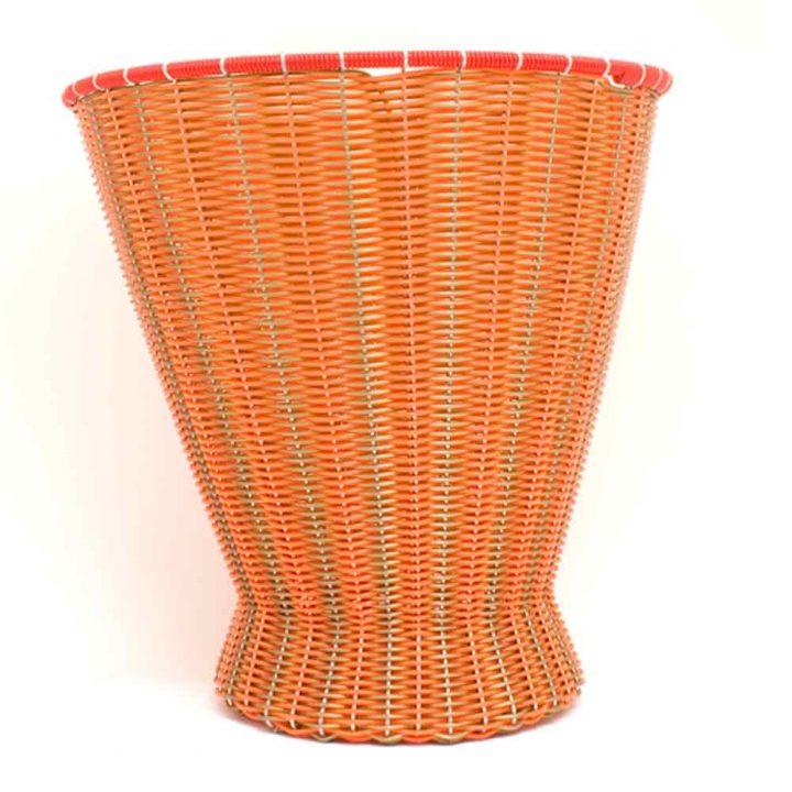 orange and gold paper baskets
