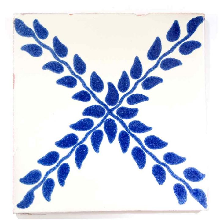 arbour blue hand made tiles.