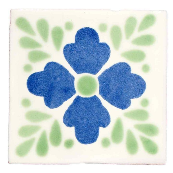 lester blue and green hand made tiles.