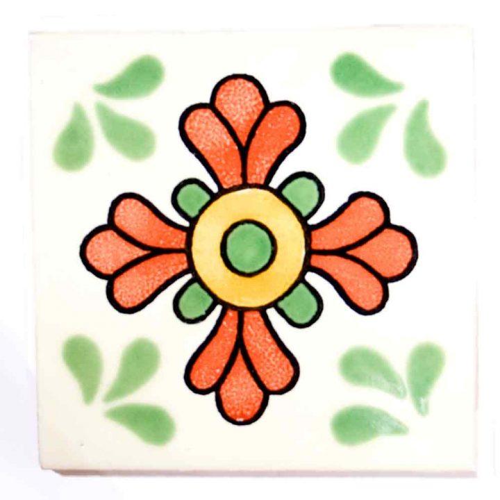 seville green and terracotta hand made tiles.