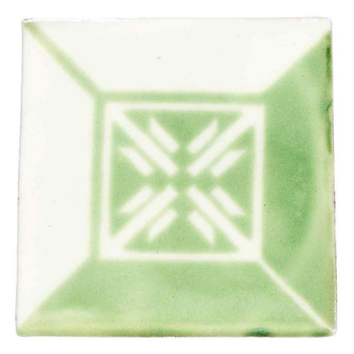 wahaca claro green hand made wall tiles.