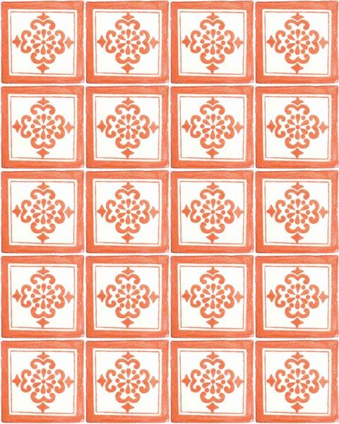 anita terracotta hand made wall tiles