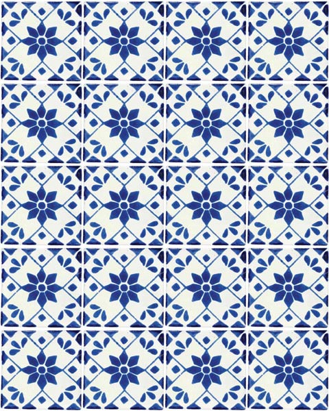 beatriz hand made wall tiles from mexico.