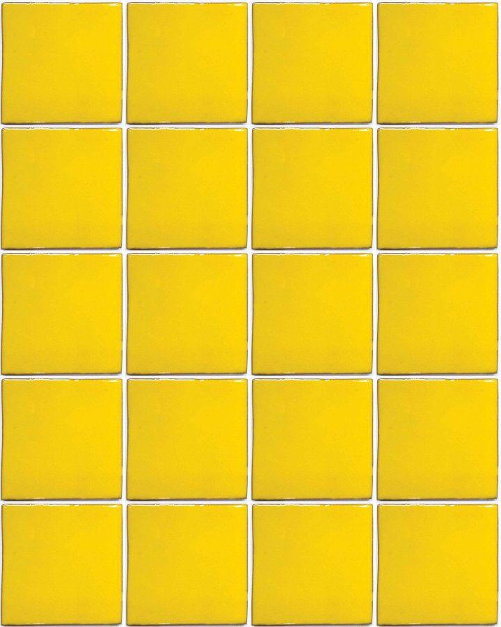 intense yellow hand made wall tiles