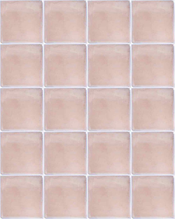 Encaustic pink hand made floor tiles