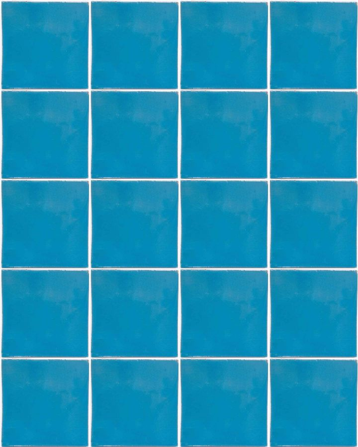 turquoise hand made wall tile