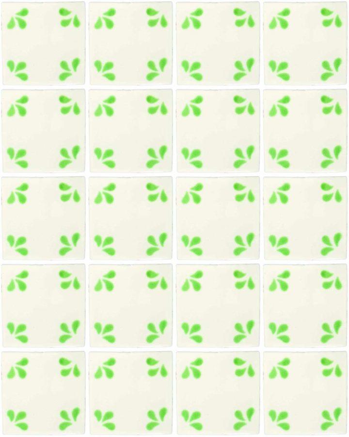 Ville green hand made wall tiles.