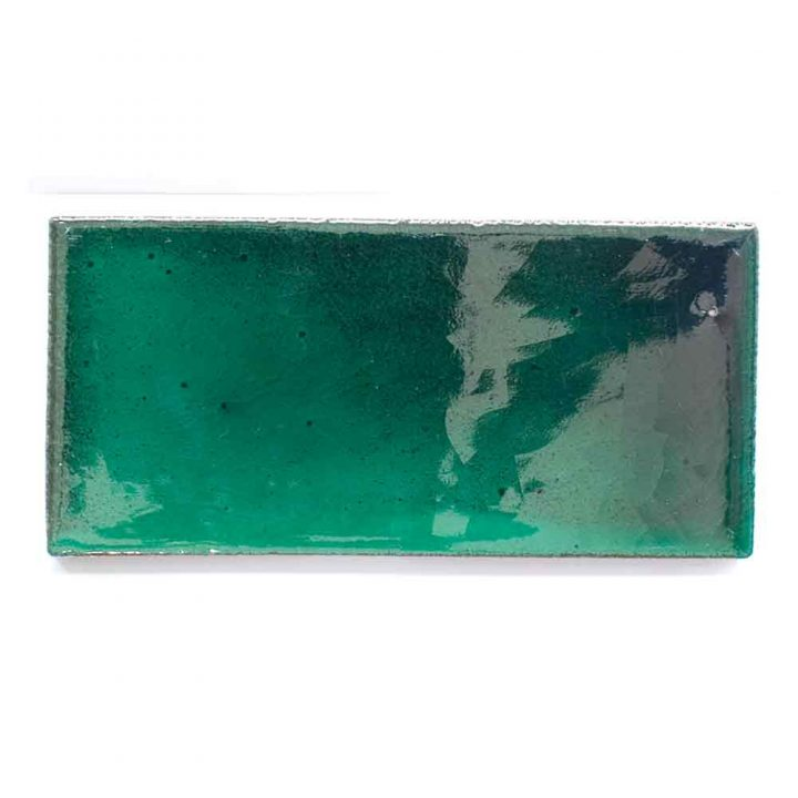 special green brick metro hand made wall tiles