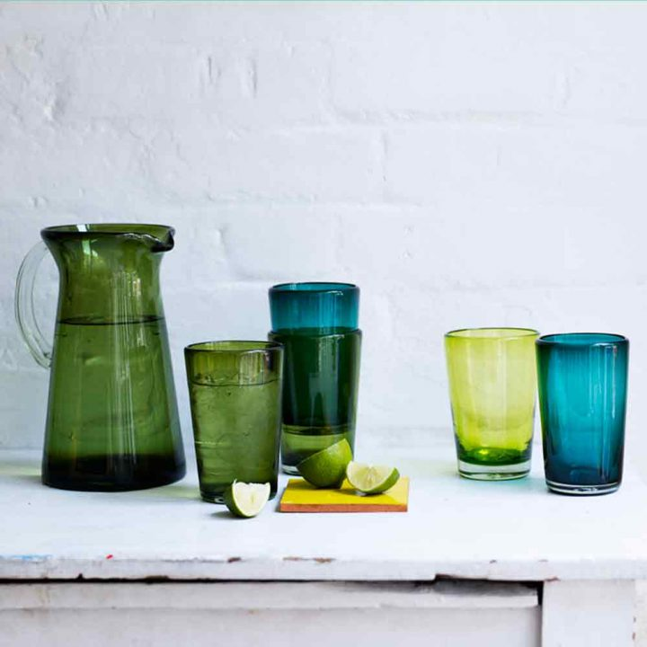 Recycled Coloured Glass