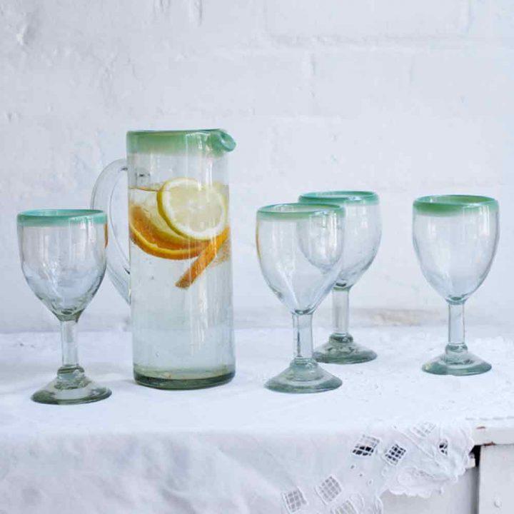Colour Rim Glassware