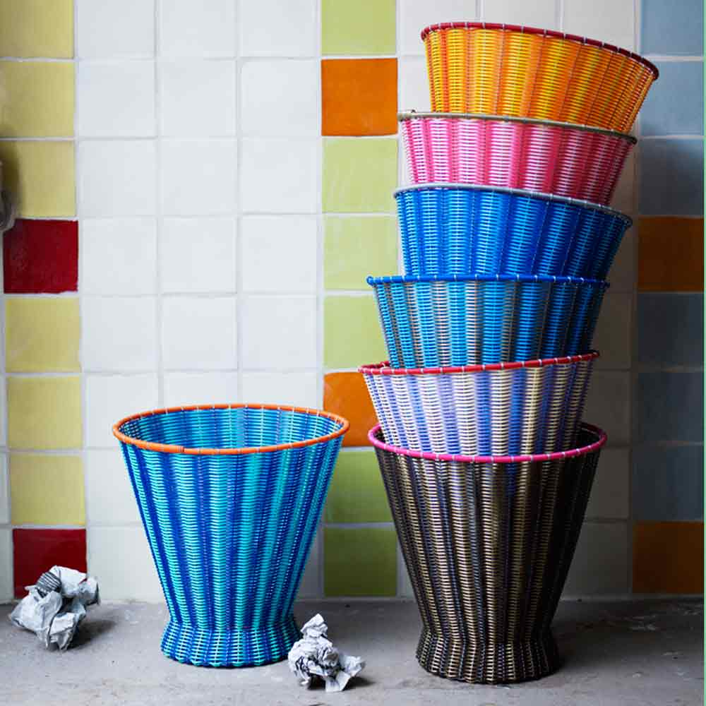 paper baskets hand made in mexico.