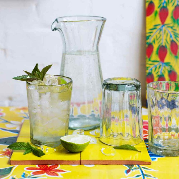 Ribbed Glassware
