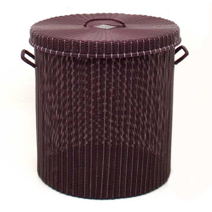 aubergine storage basket.