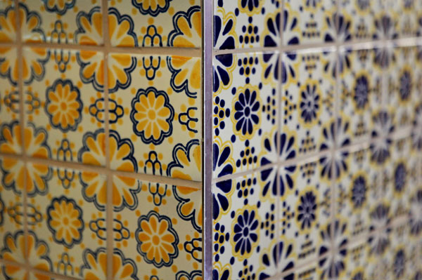 mexican Lace Yellow & Blue tiles