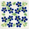 violets blue and green hand made wall tiles