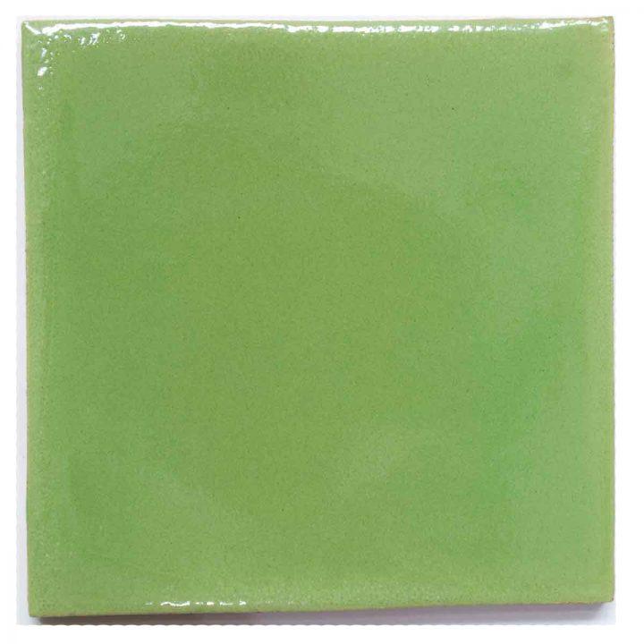 green hand made tiles