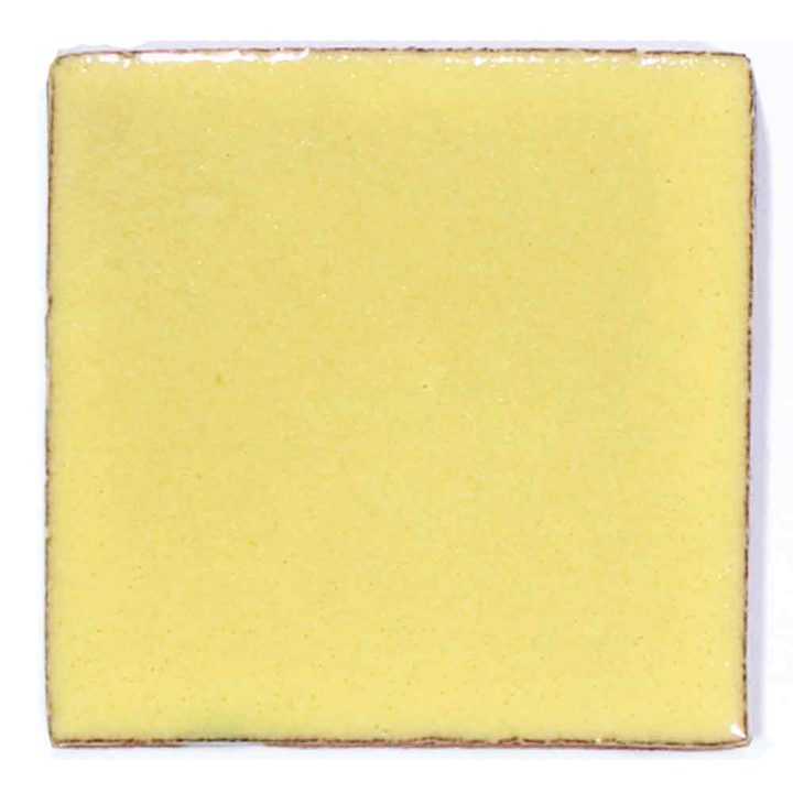 hand made mexican yellow wall tile.