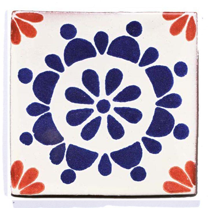 """Rocio blue and terracotta hand made wall tiles"