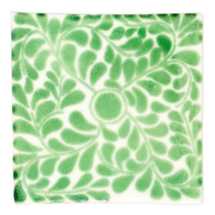Capelo green hand made wall tiles