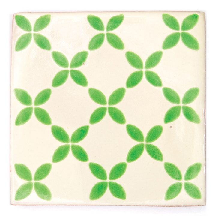 Herendira green hand made mexican tiles