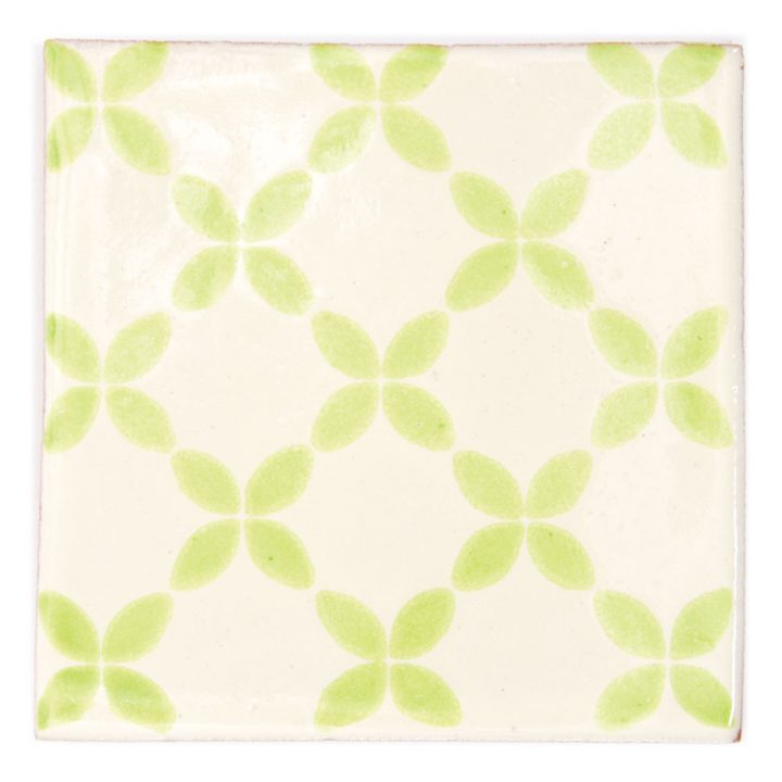 herendira lime green hand made mexican tiles